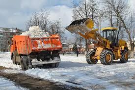 Фото уборки снега с помощью спецтехники