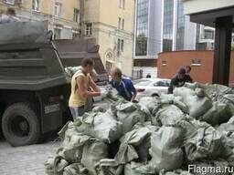 Фото строительного мусора перед вывозом