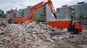 Фото погрузки строительных отходов экскаватором