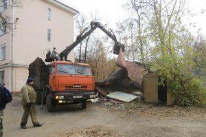 Фото сноса гаража на придомовое территории